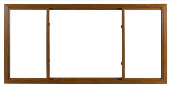Interior View | Cherry Finish | No Glass Dividers | Quarter Half Quarter Slider (end pieces of glass slide toward center)