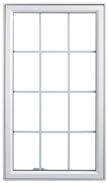 Exterior View | White | Colonial Glass Dividers | Nested Crank Handle