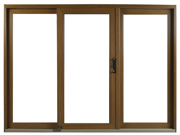 Interior View | Dark Oak Finish | No Glass Dividers | Oil-Rubbed Handle | Foot Bolt | 3 Panel Door