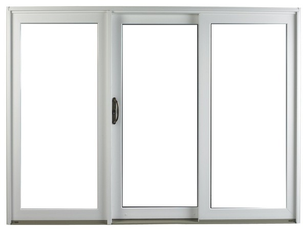 Exterior View | White | No Glass Dividers | Oil-Rubbed Handle | 3 Panel Door