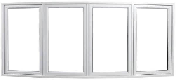 Exterior View | White | No Glass Dividers | Four Window Bow