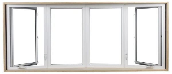 Interior View | White | No Glass Dividers | Four Window Bow
